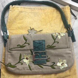 Vintage Fendi Baguette w/ flowers